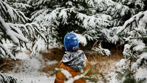 Familienausflug im Winter nach Germering in den Wald