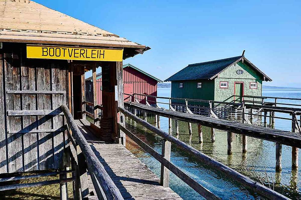 Schondorf am Ammersee bei München Bootsverleih