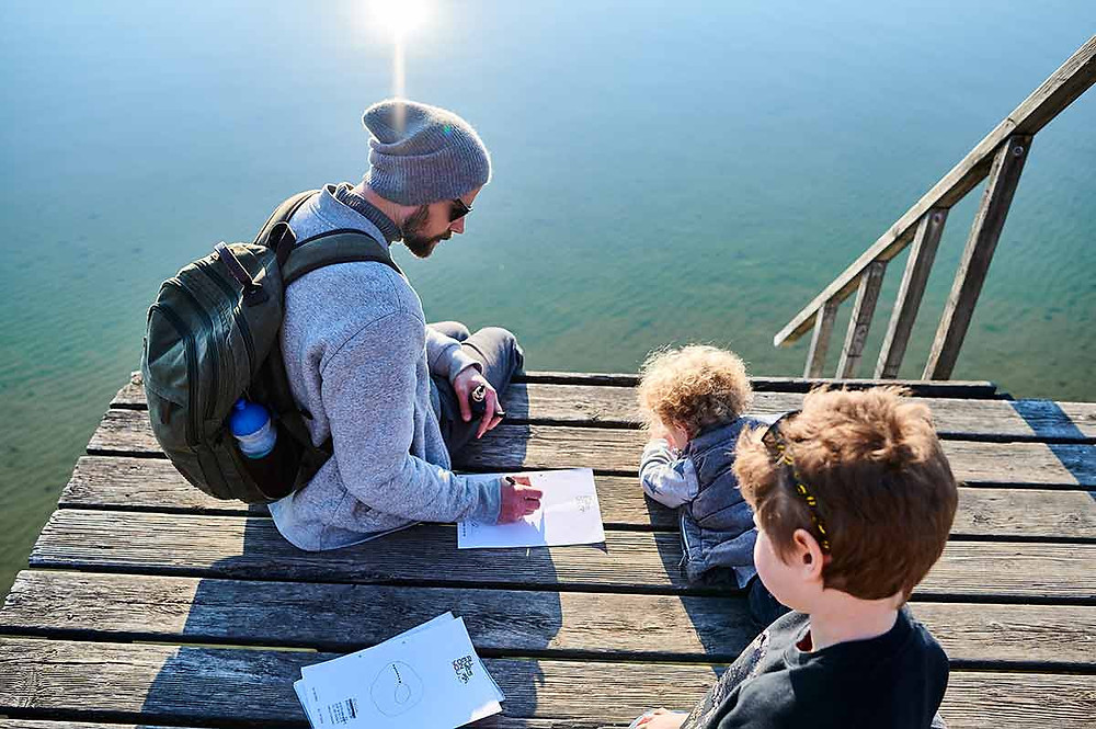 Familienausflug nach Stegen am Ammersee Badesteg