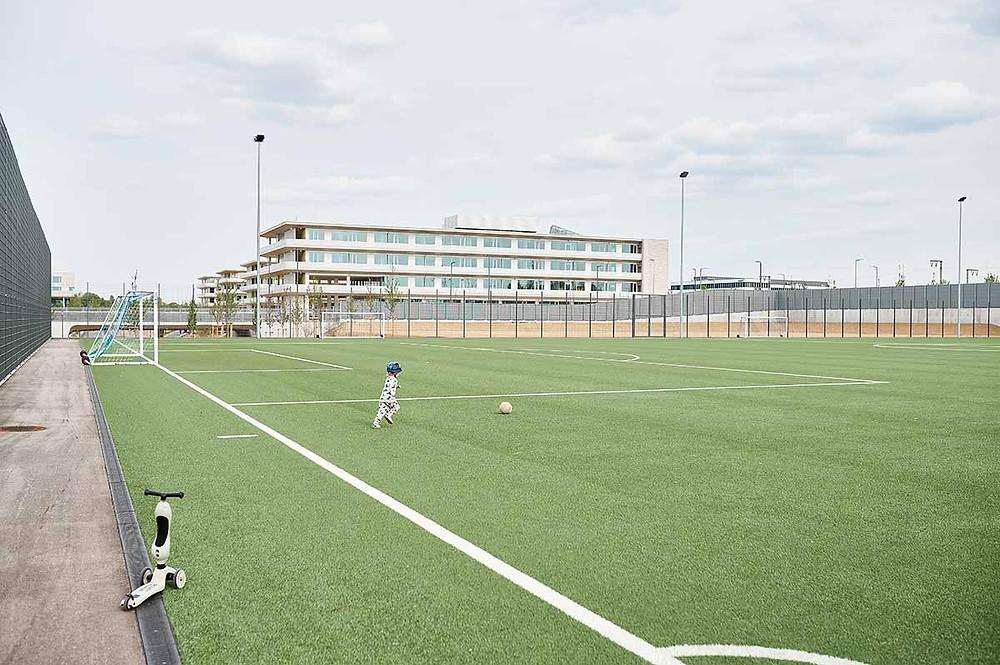 Familienausflug zum Sportpark Freiham München Fußballplatz