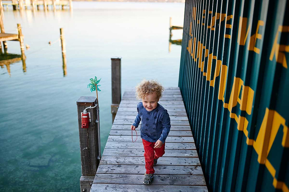 Familienausflug nach Starnberg am Starnberger See Bootsverleih Bootshaus