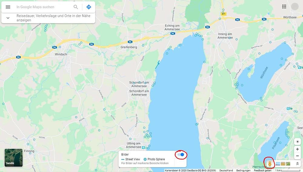 Schondorf am Ammersee bei München Google Maps Karte
