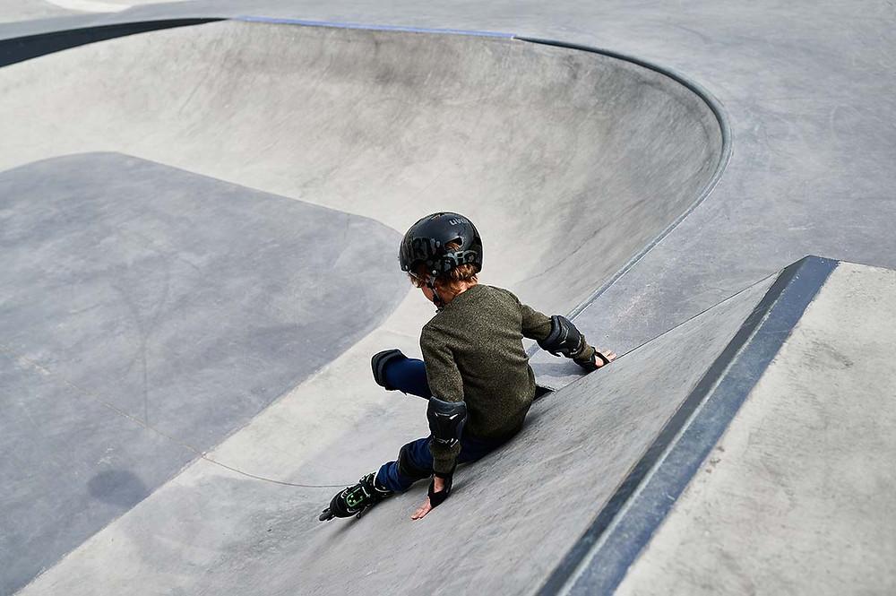 Familienausflug zum Sportpark Freiham München Skateplatz