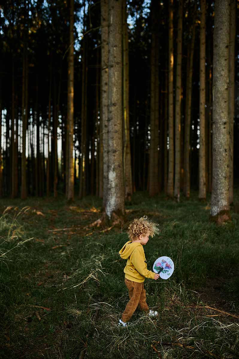 Geocache in München im Wald mit Kindern