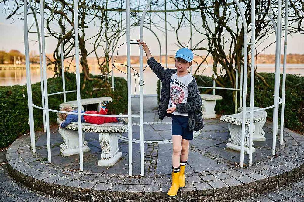 Familienausflug nach Starnberg am Starnberger See Pavillon Kinder