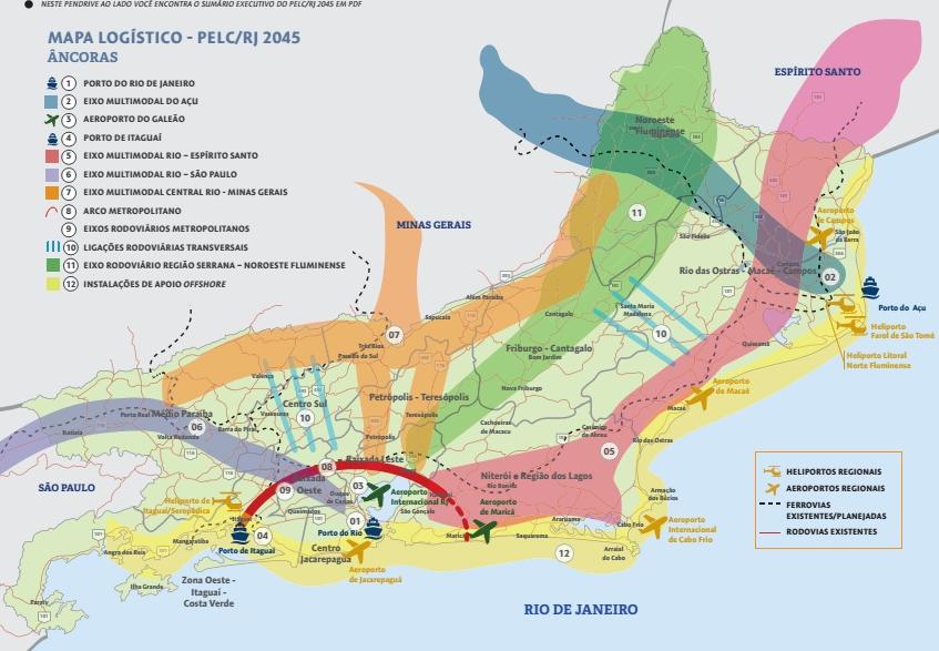 Mapa das Ancoras do PELC