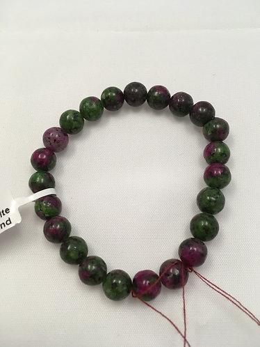 Ruby Zoisite Mala bracelet