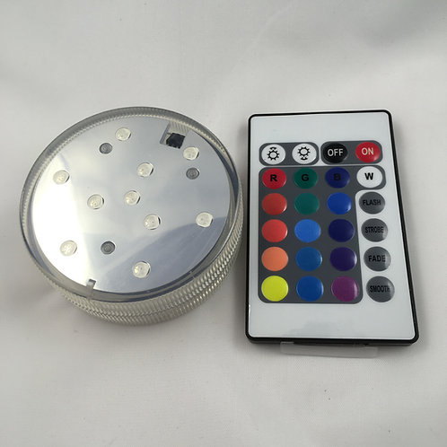 Submersible LED Light Base with Remote