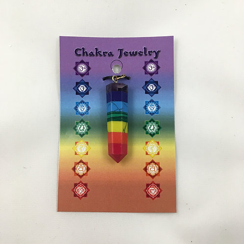 Gemstone Chakra Pendant point