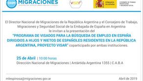 Programa de visados para la búsqueda de empleo en España