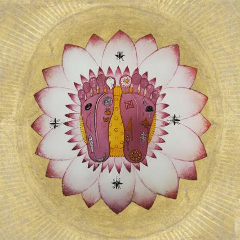 les pieds de Viṣṇu