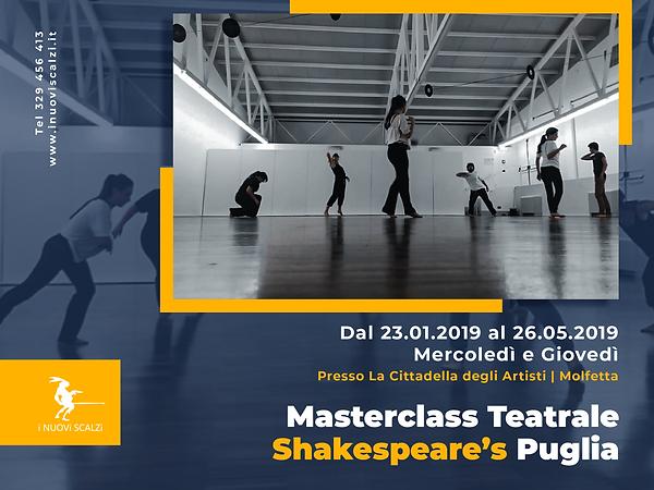 locandina masterclass teatrale Molfetta.