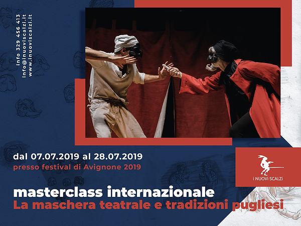 locandina masterclass teatrale avignone.
