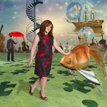 Nancy Erickson and fish