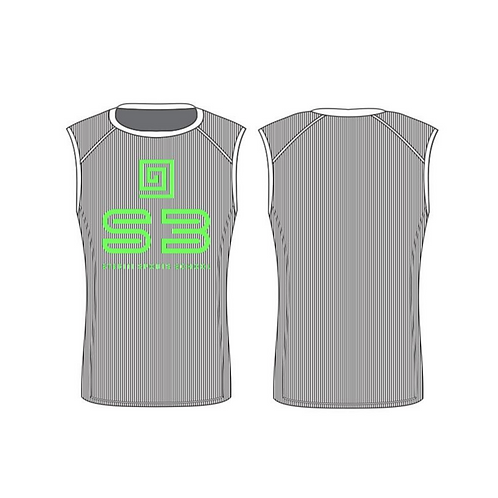 S3 Sleeveless Compression Shirt - Shoulder Sleeves
