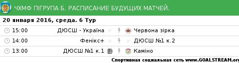 Розклад 6-го туру Чемпіонату Хмельницького з міні-футболу (футзалу)