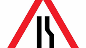 3 m Traffic Sign Road Narrows on Right Sign Board