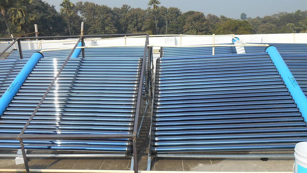 Вакуумный коллектор на основе солнечной водонагревательной системы 100 LPD