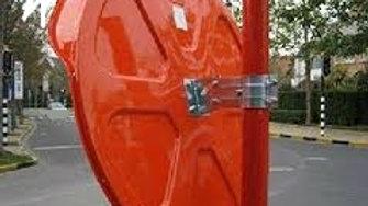 60 cm Orange Convex Mirror