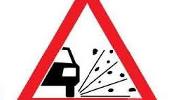 3 mm Traffic Sign Dusty Road Ahead Sign Board