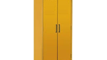 Cabinets With Tough Powder Coated Yellow Finish