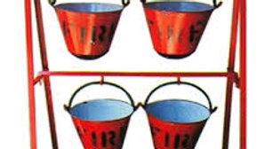 Fire Bucket Stand For Four Buckets
