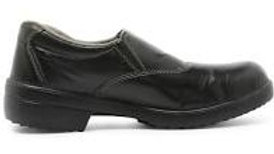 Swatch Steel Toe Black Safety Shoes, Size: 6
