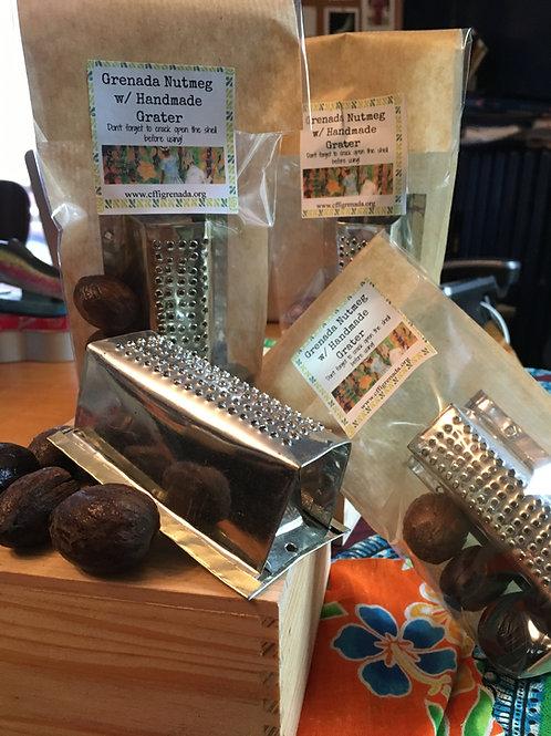 Grenadian Nutmeg with Handmade Grater