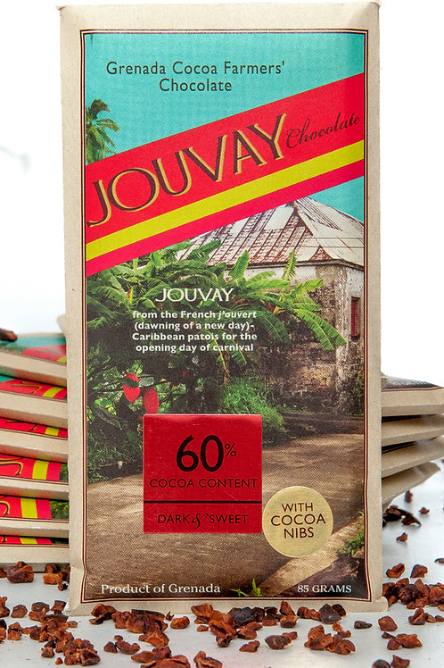 60% Dark Chocolate with Locally Grown Ingredients