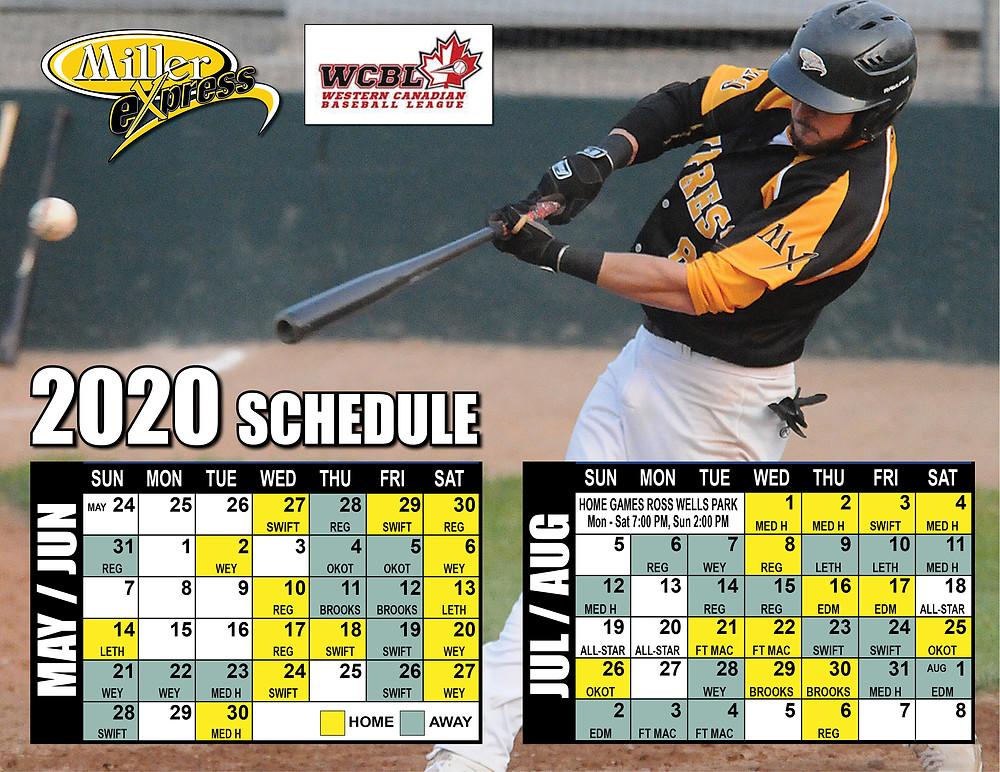 2020 Season Schedule