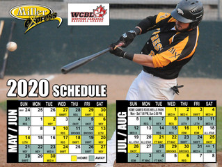 Moose Jaw Miller Express 2020 Season Schedule