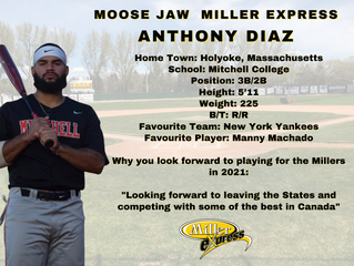 Miller Express Sign Anthony Diaz for the 2021 Season