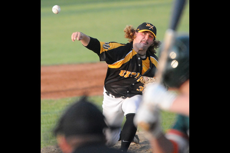 Jeff Nicolosi held Regina to only two runs through six innings in taking the Game 2 win. Picture by Randy Palmer