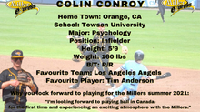 Millers Sign Infielder Colin Conroy for the 2021 Season