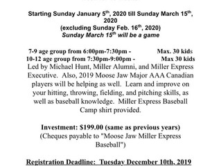 Moose Jaw Miller Express Baseball Camp