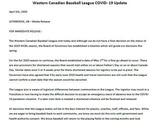 WCBL COVID-19 Media Release April 5th, 2020