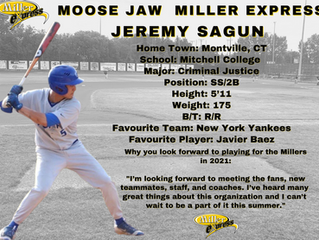 Miller Express Sign Short Stop Jeremy Sagun for the 2021 Season