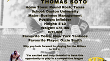 Millers Sign Infielder Thomas Soto for the 2021 Season