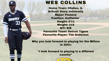 Millers Sign Outfielder Wes Collins for the 2021 Season