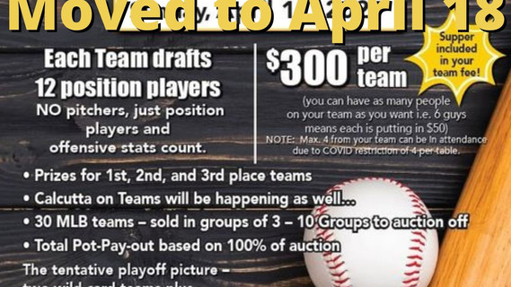 Miller Express Fundraising Baseball Draft Date Moved