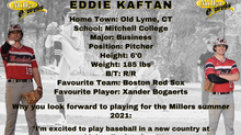 Millers Sign Pitcher Eddie Kaftan for the 2021 Season