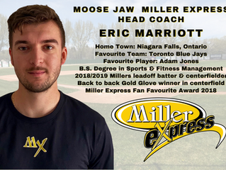 Eric Marriott Announced as the Moose Jaw Miller Express Head Coach for the 2021 Season