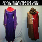 Budget Costumes For Rent: Renaissance, Beauty Beast, Aladdin, Cinderella, Mattress, Camelot