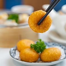 豆沙番薯饼/Sweet Yam Cake with Red Bean Paste
