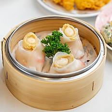 鲍鱼凤眼饺/Steamed Whole Abalone Dumplings