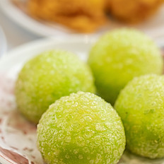 凉瓜芝麻汤丸/Deep Fried Sesame Balls w/Bitter Melon Flavoured, Peanuts & Sesame Paste Fillings