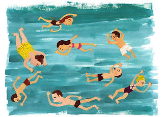 swimmers at mälaren