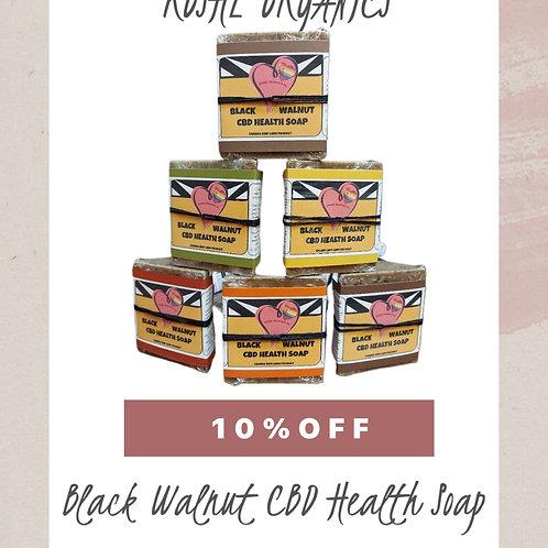 Black Walnut CBD Health Soap