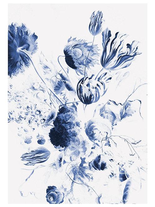 Fotobehang Royal Blue Flowers ll - WP-208
