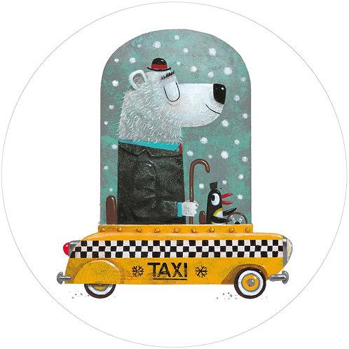 Beer Taxi - behangcirkel - CK-038